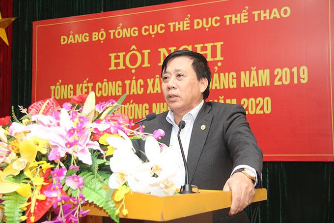 Đồng chí Phùng Minh Cường - hàm Vụ trưởng, Phó Bí thư thường trực Đảng ủy Bộ Văn hóa, Thể thao và Du lịch dự Hội nghị - Ảnh: Bùi Lượng