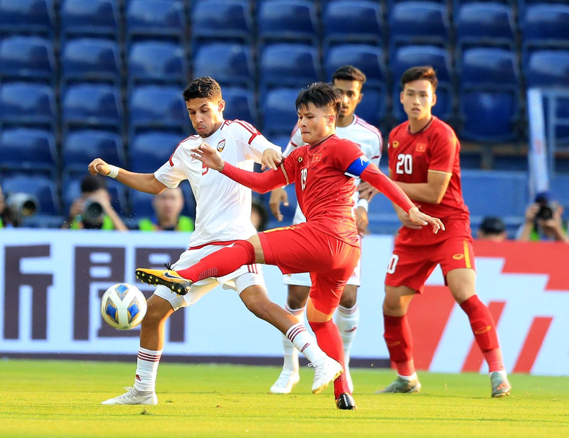 U23 UAE không muốn cầm hoà U23 Jordan ở lượt trận cuối - Ảnh: Minh Tuấn