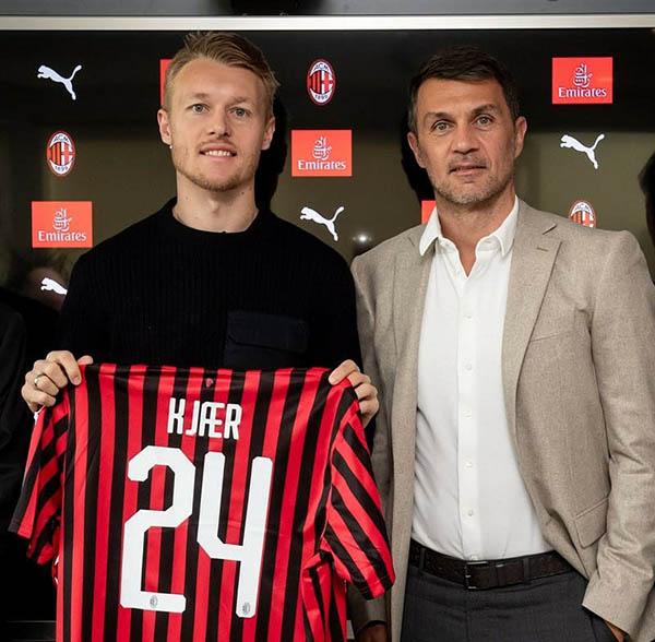 Kjaer mang áo số 24 tại AC Milan