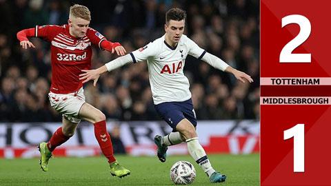 Tottenham 2-1 Middlesbrough(Đá lại Vòng 3 - Cúp FA Anh 2019/20)