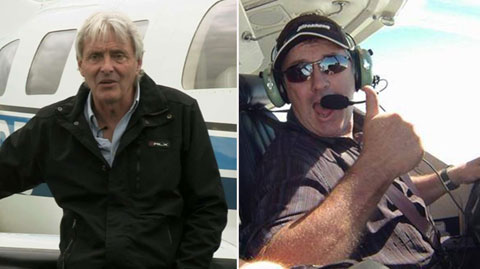 Phi công Henderson đáng ra là người lái máy bay đưa Sala từ Nantes sang Cardiff, chứ không phải David Ibbotson (phải)