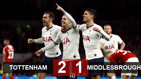 Tottenham 2-1 Middlesbrough: Những người Argentina cứu rỗi Mourinho