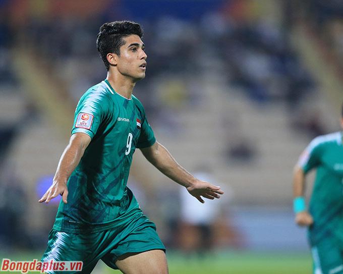 Cầu thủ U23 Iraq gỡ hòa 1-1 ở phút thứ 49
