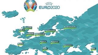 EURO 2020 & trái bóng lăn  qua 12 quốc gia