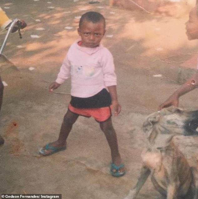 Một bức ảnh của Gedson khi anh còn nhỏ