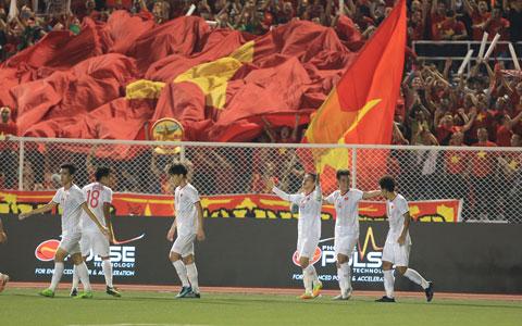 Bóng đá Việt Nam  đang có một thế hệ  cầu thủ trẻ, tài năng và  vào độ chín của sự nghiệp Ảnh: ĐỨC CƯỜNG