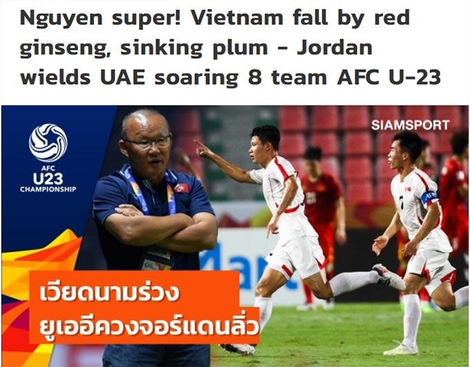 Báo Thái Lan đưa tin về U23 Việt Nam
