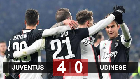 Juventus 4-0 Udinese: Song tấu Higuain-Dybala rực sáng, Juve thắng giòn giã