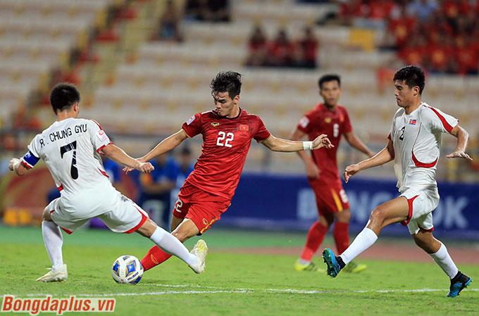 Tiến Linh ghi bàn duy nhất cho U23 Việt Nam ở VCK U23 châu Á 2020 - Ảnh: Minh Tuấn