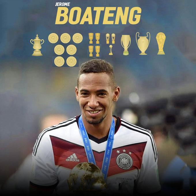 Boateng từng giành rất nhiều vinh quang cùng Bayern và ĐT Đức