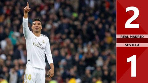 Real Madrid 2-1 Sevilla(Vòng 20 La Liga 2019/20)