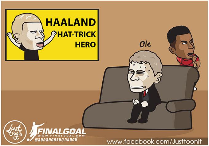 Chứng kiến Erling Haaland lập hat-trick trong ngày ra mắt CLB Dortmund, hẳn HLV Ole Gunnar Solskjaer phải xót đứt ruột khi để tuột mất món hàng tiềm năng này.