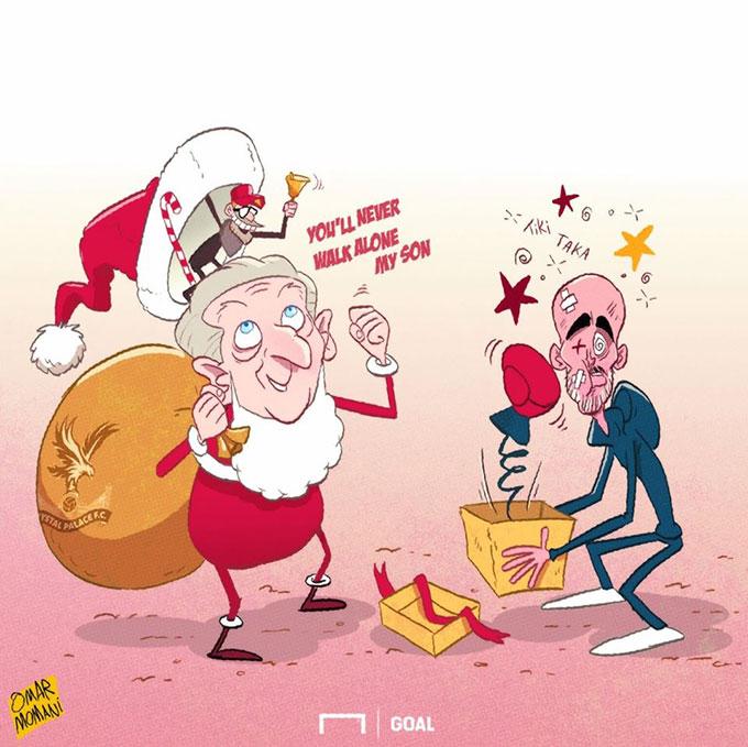 Những tưởng sang tuổi mới, HLV Pep Guardiola sẽ đón nhận món quà 3 điểm từ CLB Crystal Palace, nhưng thật không may, HLV Roy Hodgson nhất quyết không tặng quà. Manchester City đành ngậm ngùi với kết quả hòa 2-2 trên sân nhà.
