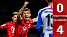 Hertha Berlin 0-4 Bayern Munich(Vòng 18 Bundesliga 2019/20)
