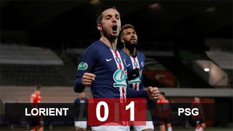 Lorient 0-1 PSG: Nhà ĐKVĐ Ligue 1 đi tiếp ở cúp Quốc gia