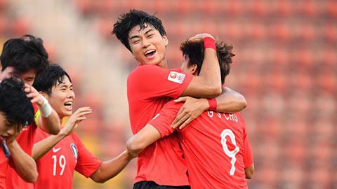 HLV Indonesia tiếp sức cho U23 Hàn Quốc trước trận bán kết U23 châu Á