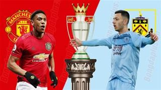 03h15 ngày 23/1, M.U vs Burnley