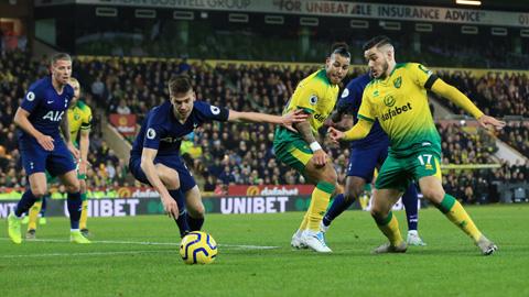 Norwich đang ở thế chân tường chắc chắn sẽ khiến Tottenham gặp khó khăn
