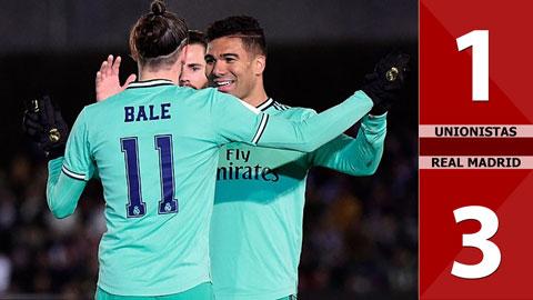 Unionistas 1-3 Real Madrid(Vòng 1/8 Cúp nhà Vua 2019/20)