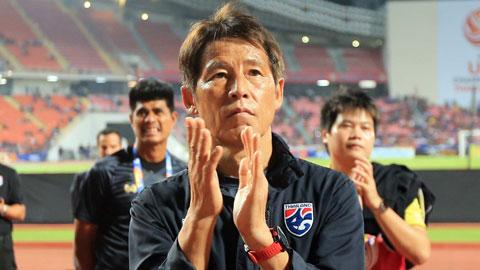 HLV Nishino và các học trò đã phải dừng chân ở tứ kết. Ảnh: Minh Tuấn