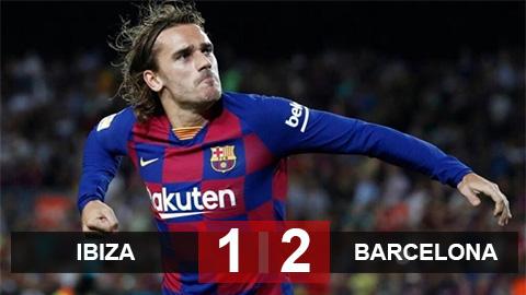 Kết quả Ibiza 1-2 Barca: Người hùng Griezmann