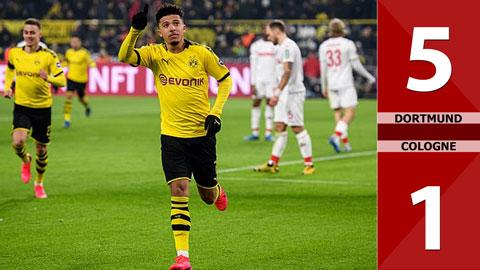 Dortmund 5-1 Cologne(Vòng 19 Bundesliga 2019/20)