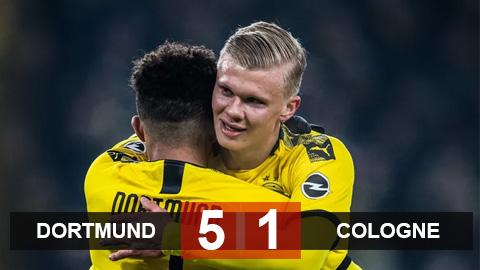 Dortmund 5-1 Cologne: Sau hat-trick là cú đúp, Haaland rực sáng giúp Dortmund đại thắng