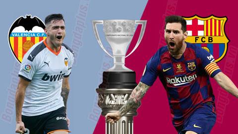 Valencia vs Barcelona, 22h00 ngày 25/1: Thử thách đầu tiên cho Setien