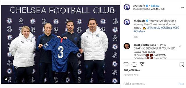 Màn hài hước không đúng lúc của Chelsea