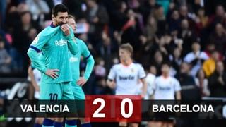 Valencia phá dớp 12 năm không thắng, Barca nguy cơ bị Real soán ngôi