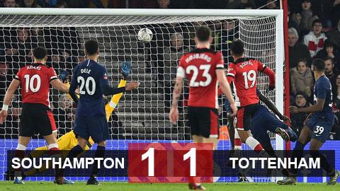 Southampton 1-1 Tottenham: Son lập công, Tottenham vẫn mất chiến thắng