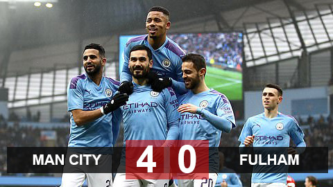 Kết quả Man City 4-0 Fulham: Jesus lập cú đúp, Man City tưng bừng vào vòng 5 FA Cup