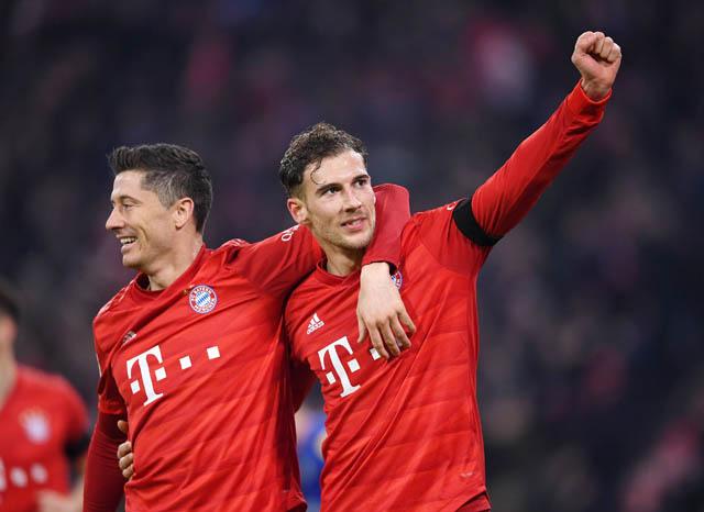 Lewandowski và Goretzka đều lập công ở trận gặp Schalke