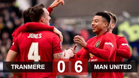 Tranmere 0-6 M.U: Lingard - Jones - Maguire tỏa sáng, Quỷ đỏ đè bẹp đội hạng 4