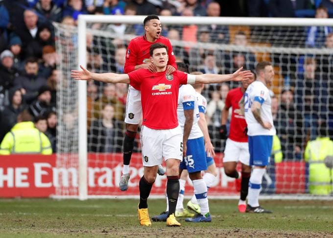 Cả Lingard và Maguire đều góp công trong trận thắng đậm của M.U trước Tranmere