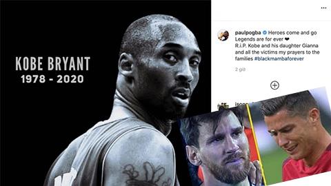Messi, Ronaldo không thể cầm lòng trước cái chết của huyền thoại bóng rổ Kobe Bryant