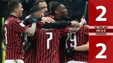 AC Milan 2-2 Torino (hiệp phụ: 2-0)