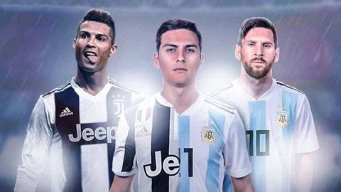Dybala tự hào được chung phòng với Ronaldo và Messi