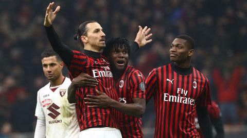Ibra ăn mừng bàn thắng vào lưới Torino rạng sáng qua