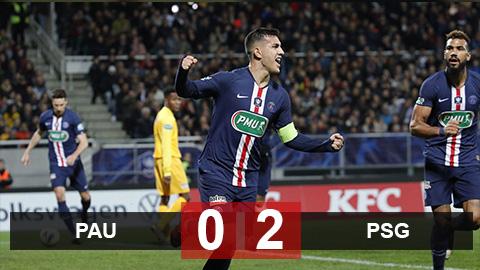 Pau 0-2 PSG: Vắng Neymar, Mbappe, Di Maria, PSG vẫn vào tứ kết cúp quốc gia Pháp
