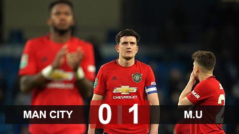 Man City 0-1 M.U: Hạ Man City ngay tại Etihad, M.U vẫn bị loại khỏi cúp Liên đoàn