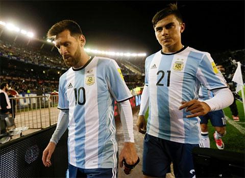 Dybala chưa thể hiện được nhiều ở ĐT Argentina