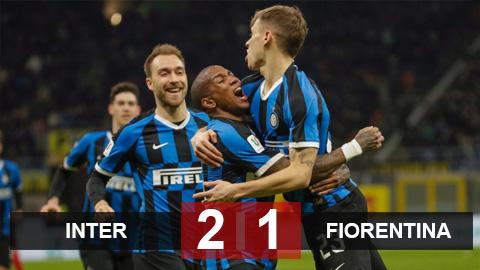 Inter 2-1 Fiorentina: Inter giành vé vào bán kết Coppa Italia ngày ra mắt Eriksen