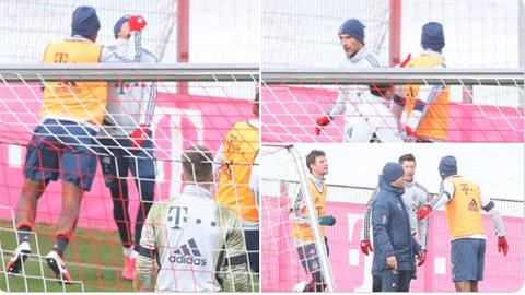 Boateng ẩu đả với Goretzka trên sân tập rồi lại... selfie với nhau