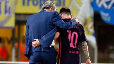 Không có sự bổ sung nào cho hàng tiền đạo, HLV Quique Setien vẫn chỉ biết trông cậy vào tài phép của Messi