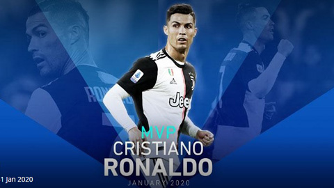 Ronaldo lần đầu nhận danh hiệu cầu thủ xuất sắc nhất tháng ở Serie A