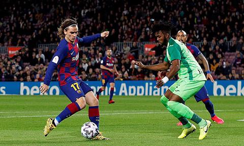 Bàn mở tỷ số của Barca
