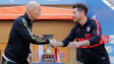 HLV Zidane vừa đánh bại chính Simeone trong trận chung kết Siêu Cúp Tây Ban Nha 2020