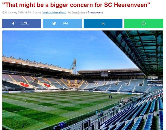 Heerenveen đang đối mặt với việc khán giả đến sân cổ vũ CLB có xu hướng già đi