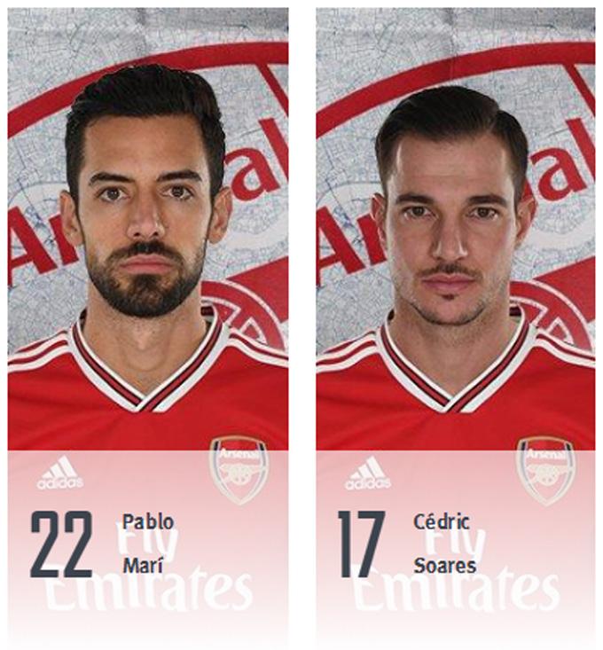 2 tân binh của Arsenal gồm Pablo Mari và Cedric Soares